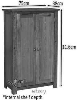 Oak Storage Cupboard Wooden Filing Cabinet Shoe Organiser Bathroom Unit