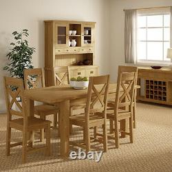Oakvale Large TV Unit / Rustic Oak 120cm Media Cabinet / Solid Living Furniture