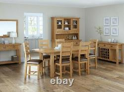 Oakvale Small Dining Bench / Solid Wood Indoor Seating / 2 3 Seater 118cm Wide