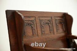 Old Charm Metamorphic Monks Bench / Settle / Table Tudor Brown FREE UK Delivery