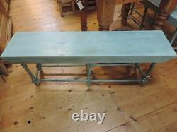 Old School Solid Oak And Ash Long Window Or Hall Bench