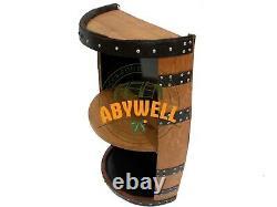 Recycled Solid Oak Whisky Barrel Drinks Bar-Display Unit-Shelf Premium Quality