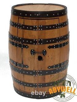 Recycled Solid Oak Whisky Barrel Drinks Cabinet-Bar-Display Unit HANDMADE