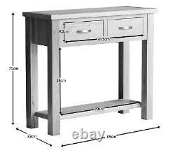 Regal Light Oak Console Table / Modern Hallway Unit / Solid Wood Telephone Unit