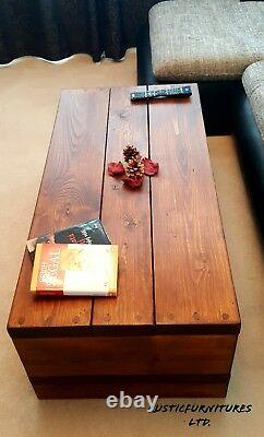 Rustic Chunky Handmade Solid Pine Wood Coffee Table/Side Table/Special Offer