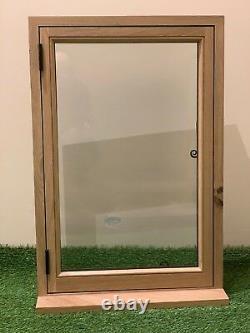 Rustic Oak Window Handcrafted Solid European Oak 600mm x 900mm Shepherds Hut