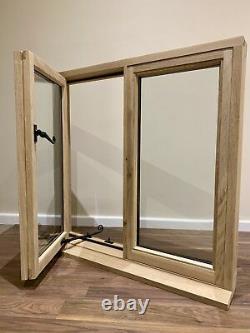 Rustic Oak Window Handcrafted Solid European Oak 750mm x 750mm Shepherds Hut