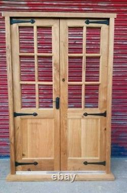 Rustic Solid Oak French Doors Georgian style! Vintage! Made to measure! Bespoke
