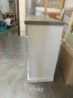 Rutland Painted 2 Door 5 Drawer Sideboard Solid Oak Top Handmade Bespoke Colours