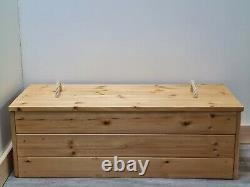 STORAGE TRUNK farmhouse chest ottoman blanket box