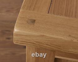 Slim Sideboard Cabinet Cupboard Solid Oak 2 Door Drawer in Harrogate Natural