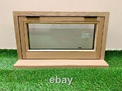 Slimline Oak Window Handcrafted Solid European Oak 600mm x 350mm Woodland Lodge