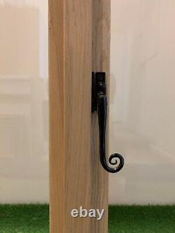 Slimline Oak Window Handcrafted Solid European Oak 900mm Wide x 900mm High