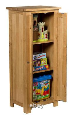 Small Oak Storage Cupboard Wooden Filing Cabinet Shoe Organiser Bathroom Unit