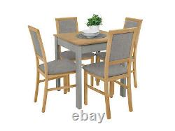Small, high quality table and 4 chairs, next day delivery, colour oak and grey