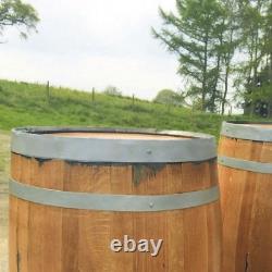Solid Oak Refurbished Whisky Barrel Bar Poser Table for Patio Beer Garden