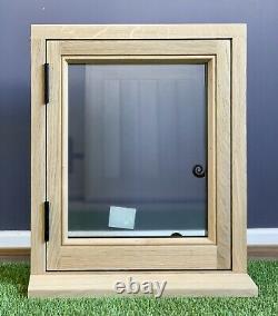 Solid Oak Window Handcrafted Rustic European Oak 450mm X 550mm Shepherds Hut