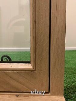 Solid Oak Window Handcrafted Rustic European Oak 600mm x 600mm Shepherds Hut