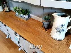 Stunning Large Solid Oak Cradle Dresser Sideboard Cupboard Cabinet Painted