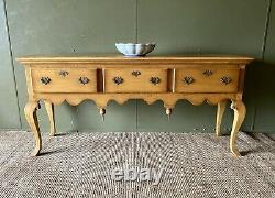 Superb Georgian Antique Style Large Solid Oak Console Hall Table Dresser base