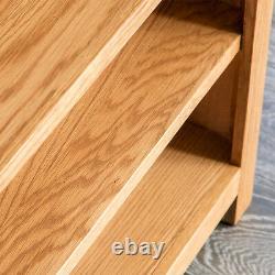 Surrey Oak Small Bookcase Rustic Solid Wood Low 3 Book Shelf Display Assembled