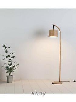 Tom Raffield Mullion Floor Lamp, Solid Oak
