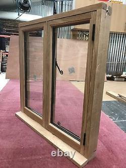 Traditional Oak Window Handcrafted Solid European Oak Window 1200mm x 1050mm