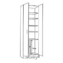 VITA 2 Door Utility Room Canadian Oak Storage Cupboard 59cm x 180cm x 37cm