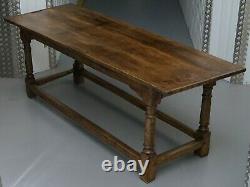 Very Rare Charles I 1630 Oak Refectory Dining Hall Table, Plaish Hall Shropshire
