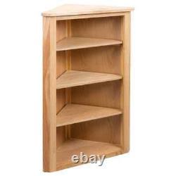 VidaXL Solid Oak Wood Corner Shelf Storage Organiser Unit Chest Display Rack