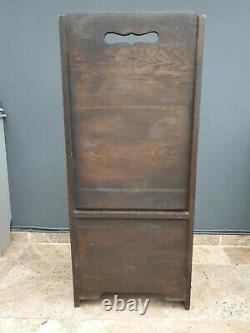 Vintage / antique oak settle / butlers chair / bar / pub bench / Chapel pew