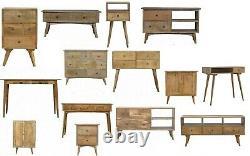 Af Gamme Solid Wood Nordic Style Coffre De Tiroirs Table De Café Media Unit Desk
