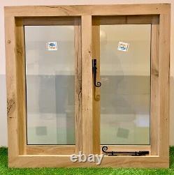 Air Dried Solid Oak Window Fabriqué À La Main Green Oak Building Garage 900mm X 750mm