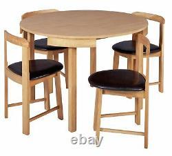 Alena Space Saver Table À Manger En Bois Massif Et 4 Chêne Chaises Space Saving