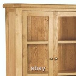 Armoire D'affichage Oakvale / Unité D'étagères Vitrées En Bois Massif / Stockage D'étagères