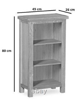 Baysdale Rustic Oak Low Narrow Bookcase / Étagère / Bibliothèque / Chêne Rustique