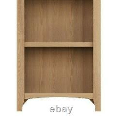 Bibliothèque Étroite En Chêne Clair Danois / Slim Solid Wood Bookshelf Display Unit