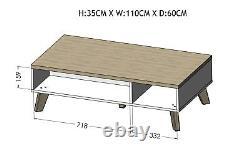 Bmf Scandi New Rectangulaire Scandinave Nordic Style Table À Café 110cm X 60cm