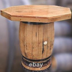 Bois Massif Whiskey Barrel Huit Sided Bar Table Patio De Table Meubles De Jardin