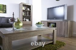 Canyon Dark Oak Salon Meubles De Rangement Table Tv Unité Bibliothèque Buffet