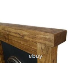 Cheminée Surround Incendie 6x3 Chunky Reclaimed Mantel Solid Pine Beam Rustic
