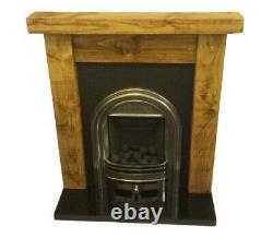 Cheminée Surround Incendie 6x3 Chunky Reclaimed Mantel Solid Pine Beam Rustic New