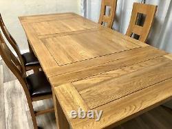 Chêne Meubles Terrain 100% Chêne Massif Table À Manger Extensible Et 4 Chaises En Chêne Massif