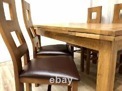 Chêne Meubles Terrain Chêne Massif Table À Manger Extensible Et 4 Chaises En Chêne Massif Rustique