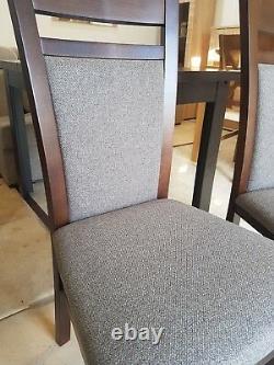 Dining Set Rallonge Table À Manger & 4 Chaises En Bois Foncé Forte Et Solide Kam02