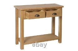 Dovedale Oak Console Table / Rustic Solid Hallway Table / Armoire En Bois