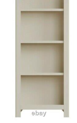 Dovedale Truffle Gris Grande Bibliothèque / Étagère De Livre Peinte Chêne Narrow / Cabinet