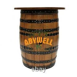 Drink Cabinet Avec Table Oakwood Top Fabrication Artisanale De Meubles En Barrique De Chêne Massif