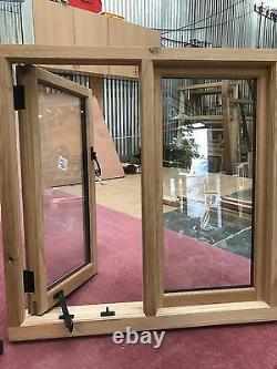 Fenêtre En Chêne Traditionnel Fabriqué À La Main Solide Fenêtre En Chêne Européen 1200mm X 1050mm