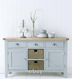 Grey Extra Large Table À Manger S'étend Jusqu'à 3m Sièges Jusqu'à 16 Hartwell Peint